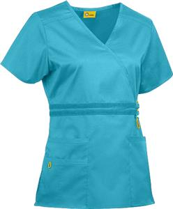 WonderWink Two Stretch Mock Wrap Scrub Top