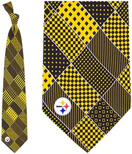 Eagles Wings NFL Pittsburgh Steelers Patchwork Tie