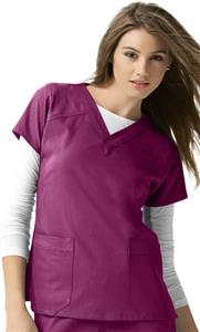 WonderWink Four-Stretch Sporty V-Neck Scrub Top