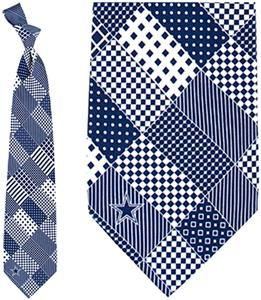 Eagles Wings NFL Dallas Cowboys Patchwork Tie