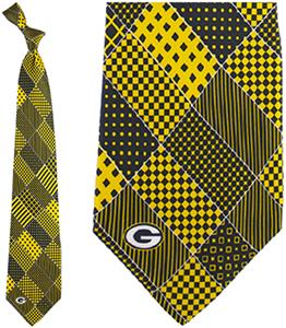 Eagles Wings NFL Green Bay Packers Patchwork Tie
