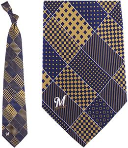 Eagles Wings MLB Milwaukee Brewers Patchwork Tie