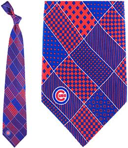 Eagles Wings MLB Chicago Cubs Patchwork Tie