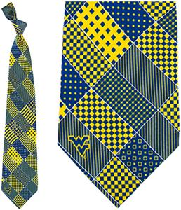 Eagles Wings NCAA West Virginia Patchwork Tie