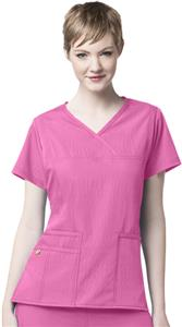 WonderWink Four-Stretch Y-Neck Scrub Top