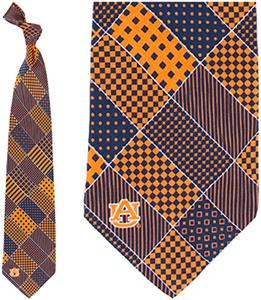 Eagles Wings NCAA Auburn Tigers Patchwork Tie