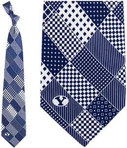 Eagles Wings NCAA BYU Cougars Patchwork Tie