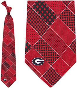 Eagles Wings NCAA Georgia Bulldogs Patchwork Tie