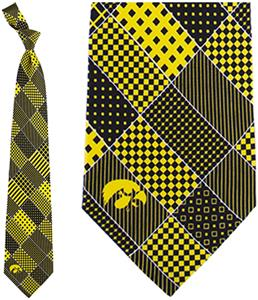 Eagles Wings NCAA Iowa Hawkeyes Patchwork Tie