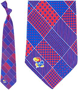 Eagles Wings NCAA Kansas Jayhawks Patchwork Tie