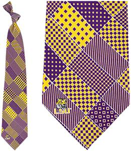 Eagles Wings NCAA LSU Tigers Patchwork Tie