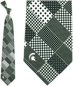 Eagles Wings NCAA Michigan State Patchwork Tie