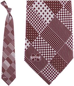Eagles Wings NCAA Mississippi State Patchwork Tie