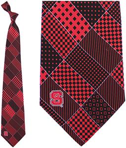 Eagles Wings NCAA NC State Wolfpack Patchwork Tie