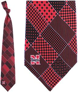 Eagles Wings NCAA Nebraska Patchwork Tie