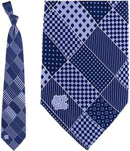 Eagles Wings NCAA North Carolina Patchwork Tie