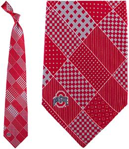 Eagles Wings NCAA Ohio State Buckeye Patchwork Tie