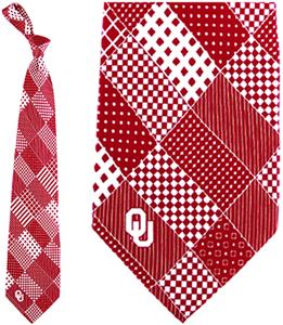 Eagles Wings NCAA Oklahoma Sooners Patchwork Tie