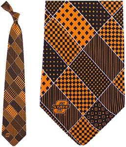 Eagles Wings NCAA Oklahoma State Patchwork Tie