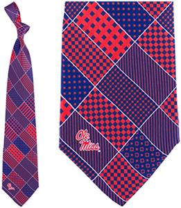 Eagles Wings NCAA Mississippi Rebels Patchwork Tie