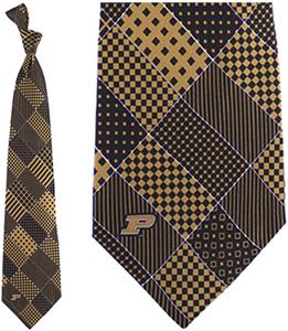 Eagles Wings NCAA Purdue Boilermaker Patchwork Tie