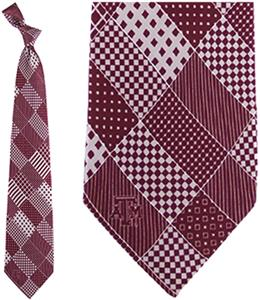 Eagles Wings NCAA Texas A&M Aggies Patchwork Tie