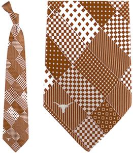 Eagles Wings NCAA Texas Longhorns Patchwork Tie