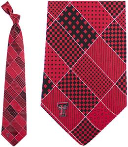 Eagles Wings NCAA Texas Tech Patchwork Tie