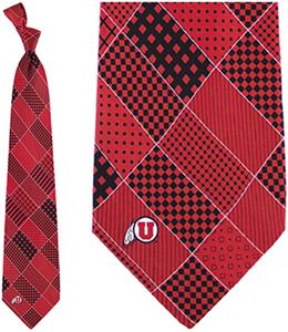 Eagles Wings NCAA Utah Utes Patchwork Tie