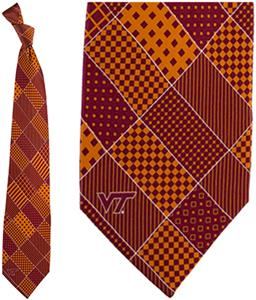 Eagles Wings NCAA Virginia Tech Patchwork Tie