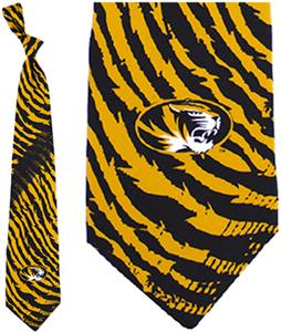 Eagles Wings NCAA Missouri Tiger Stripes Tie
