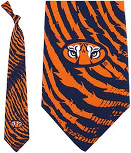 Eagles Wings NCAA Auburn Tigers Stripes Tie