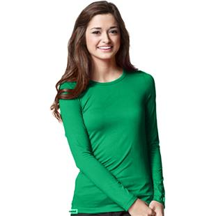 WonderWink Layers Womens Silky Long Sleeve Tee