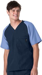 WonderWink Men's Raglan Block 5 Pocket Scrub Top