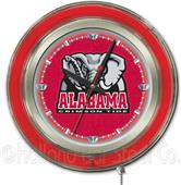 Holland Univ Alabama Elephant Neon Logo Clock