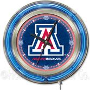 Holland University of Arizona Neon Logo Clock