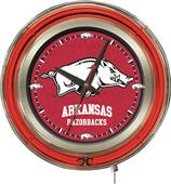Holland University of Arkansas Neon Logo Clock