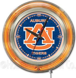 Holland Auburn University Neon Logo Clock