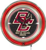 Holland Boston College Neon Logo Clock