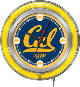 Holland University of California Neon Logo Clock