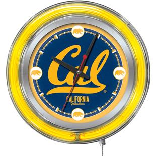 Holland University of California Neon Logo Clock