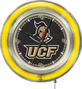 Holland University Central Florida Neon Logo Clock