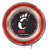 Holland University of Cincinnati Neon Logo Clock