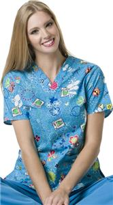 WonderWink Origins Puddle Jumper Scrub Top