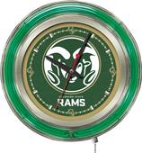 Holland Colorado State University Neon Logo Clock