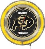 Holland University of Colorado Neon Logo Clock