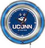 Holland University of Connecticut Neon Logo Clock
