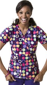 WonderWink Origins Dot's Fun Scrub Top