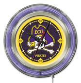 Holland East Carolina University Neon Logo Clock