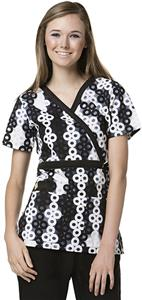 WonderWink Roll-On Mock Wrap Scrub Top